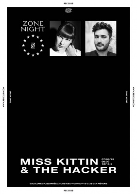 Zone Records au Rex Club avec The Hacker et Miss Kittin