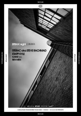 Btrax au Rex Club avec Steve Rachmad