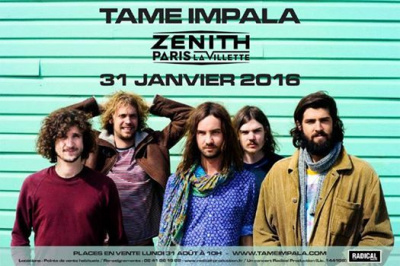 Tame Impala en concert au Zénith de Paris en 2016