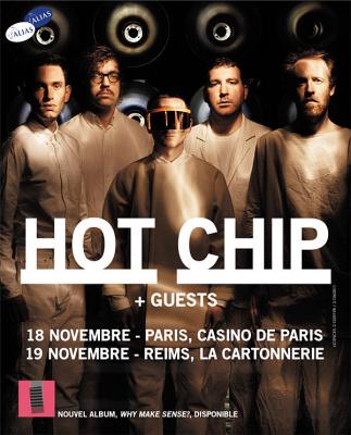 Hot Chip en concert au Casino de Paris en novembre 2015