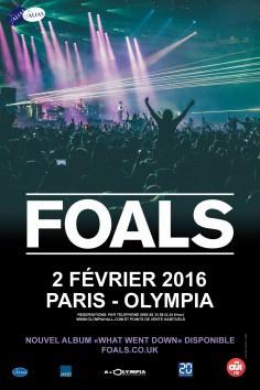Foals en concert à l'Olympia de Paris en 2016