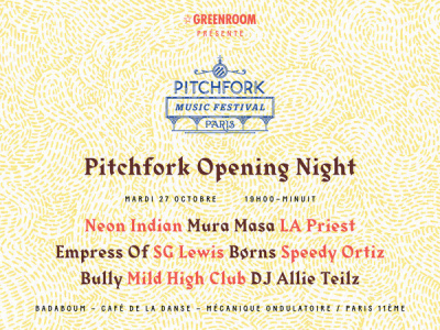 Pitchfork Music Festival Paris 2015 : Opening Night