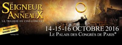 Le Seigneur des Anneaux - La Trilogie en ciné-concert au Palais de Congrès de Paris en 2016