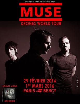Muse en concerts à Paris Bercy Arena en 2016