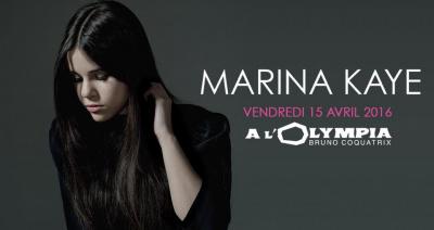 Marina Kaye en concert à L'Olympia de Paris en 2016