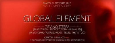 "Global Element ""Halloween Day 2015"" au 4 Elements"