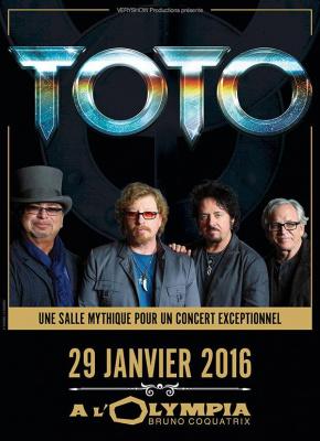 Toto en concert à l'Olympia de Paris en 2016