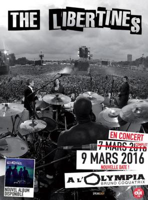 The Libertines en concerts à l'Olympia de Paris en 2016