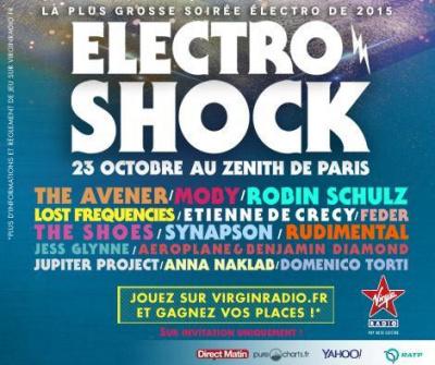 ElectroShock by Virgin Radio revient au Zénith de Paris : gagne ta place!