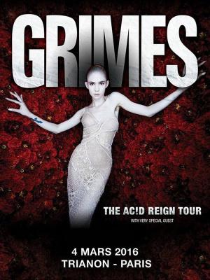 Grimes en concert au Trianon de Paris en 2016