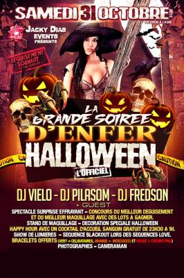Grande soirée d'enfer Halloween 2015 aux Salons Vianey