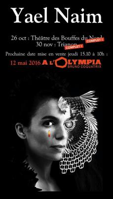 Yael Naim en concert à l'Olympia de Paris en 2016