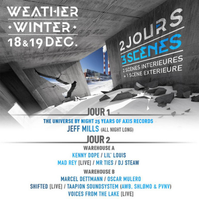 Weather Winter 2015 à Paris Event Center : dates, programmation et réservations
