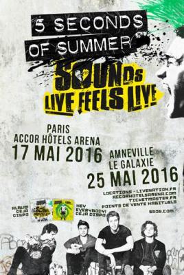 5 Seconds of Summer en concert à l'AccorHotels Arena de Paris en 2016