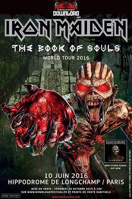 Download Festival 2016 à Paris : Iron Maiden en concert à l'Hippodrome de Longchamp