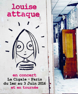 Louise Attaque en concerts à La Cigale de Paris en 2016