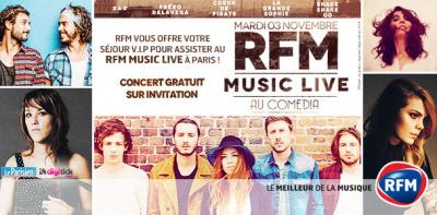 RFM Music Live au Théâtre Comédia de Paris : gagne ta place