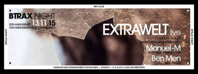BTRAX Night : 20th Anniversary au Rex Club