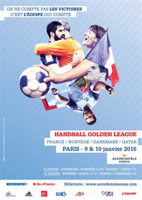 Golden League Masculine 2016 de Handall à l'AccorHotels Arena de Paris