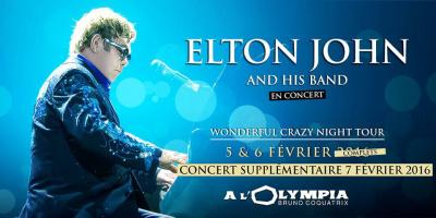 Elton John en concerts à l'Olympia de Paris en 2016