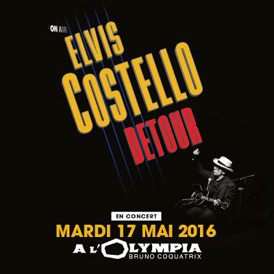 Elvis Costello en concert à l'Olympia de Paris en 2016