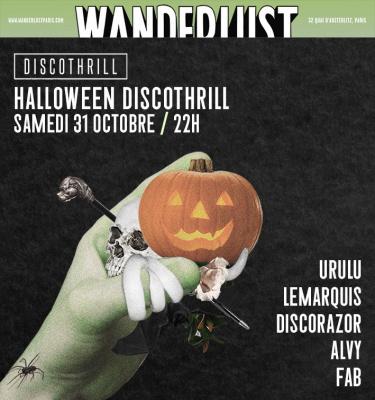 Halloween 2015 au Wanderlust : Discothrill
