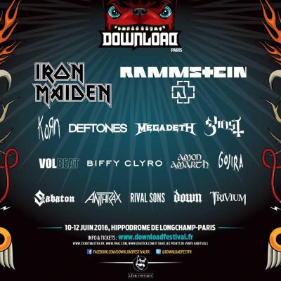 Download Festival 2016 à Paris : Deftones, Megadeth, Korn… rejoignent l'affiche