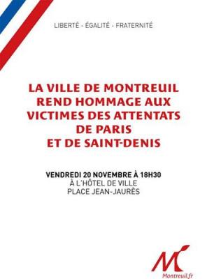 Montreuil rend hommage aux victimes des attentats