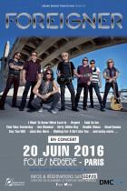Foreigner en concert aux Folies Bergère de Paris en 2016
