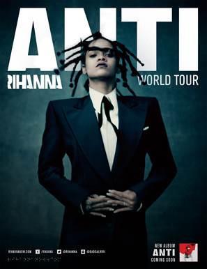 Rihanna en concert à Paris en 2016 : Anti World Tour au Stade de France