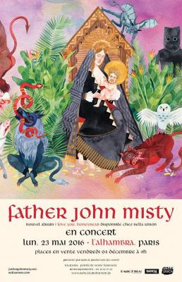 Father John Misty en concert à l'Alhambra de Paris en 2016
