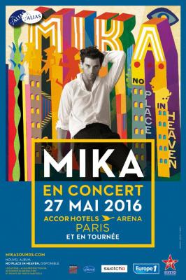 Mika en concert à l'AccorHotels Arena de Paris en 2016