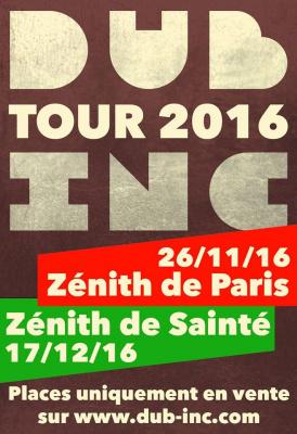Dub Inc en concert au Zénith de Paris en 2016