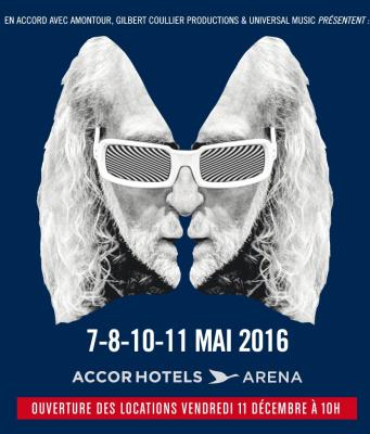 Michel Polnareff en concerts à l'AccorHotels Arena de Paris en 2016