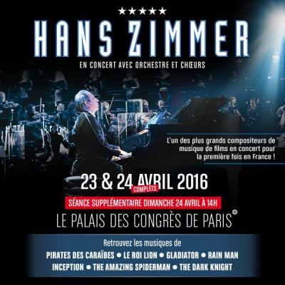 Hans Zimmer en concerts au Palais des Congrès de Paris en 2016