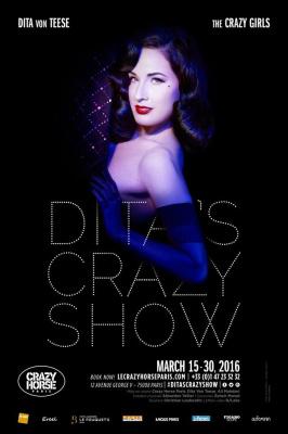 "Dita Von Teese dans ""Dita's Crazy Show"" au Crazy Horse de Paris en 2016"