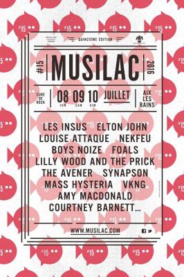 Festival Musilac 2016 à Aix-Les-Bains : dates, programmation et réservations