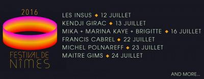 Festival de Nîmes 2016 aux Arènes : dates, programmation et réservations