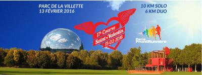 La Course de la Saint-Valentin 2016 au Parc de la Villette