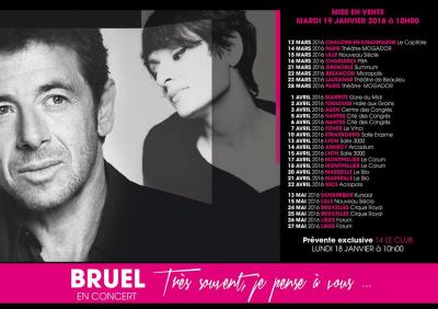 Bruel chante Barbara au Théâtre Mogador à Paris