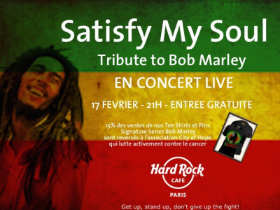 Hommage à Bob Marley au Hard Rock Cafe Paris