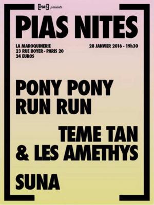 [PIAS] NITE à La Maroquinerie avec Pony Pony Run Run