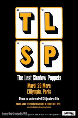 The Last Shadow Puppets en concert à l'Olympia de Paris en mars 2016