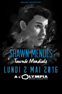 Shawn Mendes en concert à l'Olympia de Paris en mai 2016