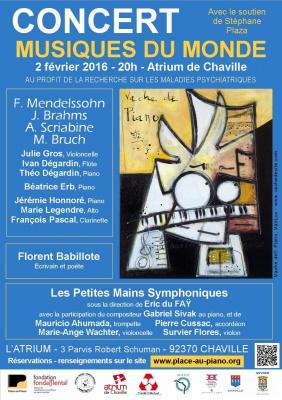Concert « Musiques du Monde » à l'Atrium de Chaville