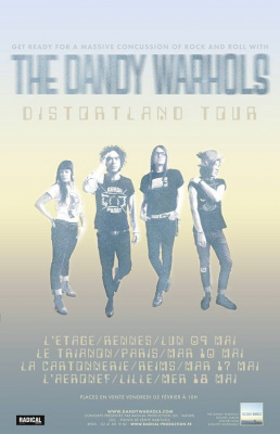 The Dandy Warhols en concert au Trianon de Paris en mai 2016