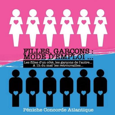 Filles, Garçons : Mode d'Emploi... Spéciale Saint Valentin 2016 au Bateau Concorde Atlantique