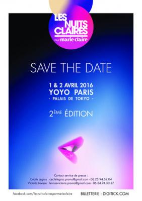 Les Nuits Claires 2016 au Yoyo par Marie Claire : dates, programmation et réservations