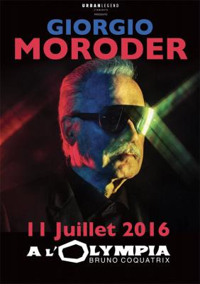Giorgio Moroder en concert à l'Olympia de Paris en juillet 2016