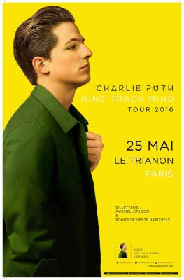 Charlie Puth en concert au Trianon de Paris en mai 2016